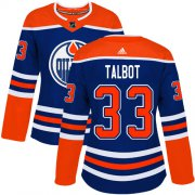 Wholesale Cheap Adidas Oilers #33 Cam Talbot Royal Alternate Authentic Women's Stitched NHL Jersey