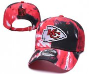 Wholesale Cheap Chiefs Team Logo Red Black Peaked Adjustable Fashion Hat YD