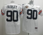 Wholesale Cheap Auburn Tigers #90 Nick Fairley White Jersey