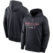 Wholesale Cheap Men's Washington Nationals Nike Navy Authentic Collection Therma Performance Pullover Hoodie