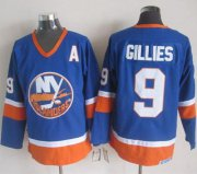 Wholesale Cheap Islanders #9 Clark Gillies Baby Blue CCM Throwback Stitched NHL Jersey