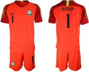 Wholesale Cheap Brazil #1 Alisson Red Goalkeeper Soccer Country Jersey