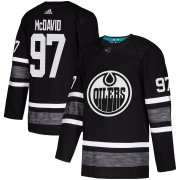 Wholesale Cheap Adidas Oilers #97 Connor McDavid Black Authentic 2019 All-Star Stitched NHL Jersey