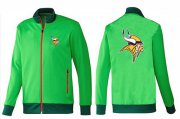 Wholesale Cheap NFL Minnesota Vikings Team Logo Jacket Green