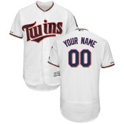 Wholesale Cheap Minnesota Twins Majestic Home Flex Base Authentic Collection Custom Jersey White
