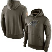 Wholesale Cheap Men's Carolina Panthers Nike Olive Salute To Service KO Performance Hoodie