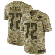 Wholesale Cheap Nike Lions #72 Halapoulivaati Vaitai Camo Men's Stitched NFL Limited 2018 Salute To Service Jersey