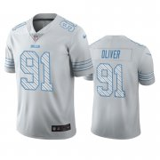 Wholesale Cheap Buffalo Bills #91 Ed Oliver White Vapor Limited City Edition NFL Jersey