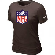 Wholesale Cheap Women's Nike NFL Logo NFL T-Shirt Brown