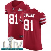 Wholesale Cheap Nike 49ers #81 Jordan Matthews Red Super Bowl LIV 2020 Team Color Men's Stitched NFL Vapor Untouchable Elite Jersey