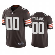 Wholesale Cheap Cleveland Browns Custom Men's Nike Brown 2020 Vapor Limited Jersey
