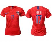 Wholesale Cheap Women's USA #17 Heath Away Soccer Country Jersey
