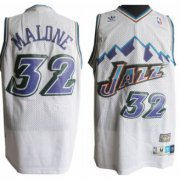 Wholesale Cheap Utah Jazz #32 Karl Malone Mountain White Throwback Swingman Jersey
