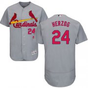 Wholesale Cheap Cardinals #24 Whitey Herzog Grey Flexbase Authentic Collection Stitched MLB Jersey