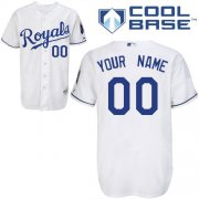 Wholesale Cheap Royals Personalized Authentic White Cool Base MLB Jersey (S-3XL)