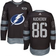 Wholesale Cheap Adidas Lightning #86 Nikita Kucherov Black 1917-2017 100th Anniversary Stitched NHL Jersey