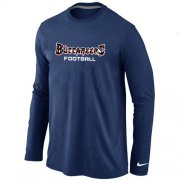 Wholesale Cheap Nike Tampa Bay Buccaneers Authentic Font Long Sleeve T-Shirt Dark Blue