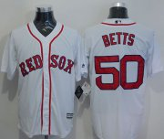 Wholesale Cheap Red Sox #50 Mookie Betts White New Cool Base Stitched MLB Jersey