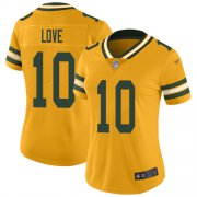Wholesale Cheap Nike Packers #10 Jordan Love Gold Women's Stitched NFL Limited Inverted Legend Jersey
