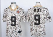 Wholesale Cheap Nike Saints #9 Drew Brees Camo USMC Men's Stitched NFL Elite Jersey
