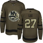 Wholesale Cheap Adidas Islanders #27 Anders Lee Green Salute to Service Stitched Youth NHL Jersey