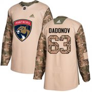 Wholesale Cheap Adidas Panthers #63 Evgenii Dadonov Camo Authentic 2017 Veterans Day Stitched Youth NHL Jersey