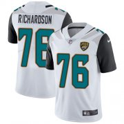 Wholesale Cheap Nike Jaguars #76 Will Richardson White Men's Stitched NFL Vapor Untouchable Limited Jersey