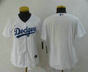Wholesale Cheap Women's Los Angeles Dodgers Blank White Stitched MLB Cool Base Nike Jersey
