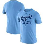 Wholesale Cheap Kansas City Royals Nike Practice T-Shirt Blue