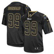 Wholesale Cheap Nike Rams #99 Aaron Donald Lights Out Black Men's Stitched NFL Elite Jersey