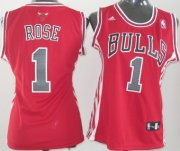 Wholesale Cheap Chicago Bulls #1 Derrick Rose Red Womens Jersey