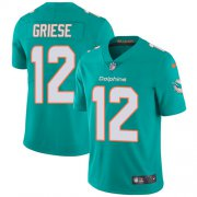 Wholesale Cheap Nike Dolphins #12 Bob Griese Aqua Green Team Color Men's Stitched NFL Vapor Untouchable Limited Jersey