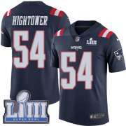 Wholesale Cheap Nike Patriots #54 Dont'a Hightower Navy Blue Super Bowl LIII Bound Men's Stitched NFL Limited Rush Jersey