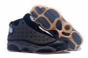 Wholesale Cheap Air Jordan 13 High QUAI 54 Shoes Black/grey-khaki