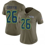 Wholesale Cheap Nike Seahawks #26 Shaquem Griffin Olive Women's Stitched NFL Limited 2017 Salute to Service Jersey