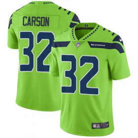 Wholesale Cheap Nike Seahawks #32 Chris Carson Green Youth Stitched NFL Limited Rush Jersey