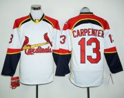 Wholesale Cheap Cardinals #13 Matt Carpenter White/Red Long Sleeve Stitched MLB Jersey