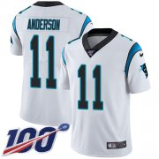 Wholesale Cheap Nike Panthers #11 Robby Anderson White Men's Stitched NFL 100th Season Vapor Untouchable Limited Jersey
