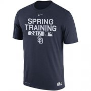 Wholesale Cheap Men's San Diego Padres Nike Navy 2017 Spring Training Authentic Collection Legend Team Issue Performance T-Shirt