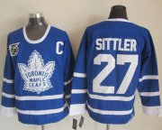 Wholesale Cheap Maple Leafs #27 Darryl Sittler Blue 75th CCM Throwback Stitched NHL Jersey