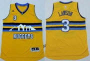 Wholesale Cheap Men's Denver Nuggets #3 Ty Lawson Revolution 30 Swingman 2014 New Yellow Jersey