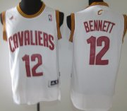 Wholesale Cheap Cleveland Cavaliers #12 Anthony Bennett Revolution 30 Swingman White Jersey