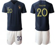 Wholesale Cheap France #20 Thauvin Home Soccer Country Jersey