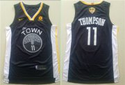 Wholesale Cheap Nike Golden State Warriors #11 Klay Thompson Black City Edition 2018 NBA Finals Nike Swingman Jersey