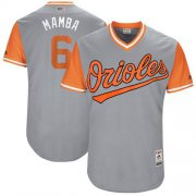 "Wholesale Cheap Orioles #6 Jonathan Schoop Gray ""Mamba"" Players Weekend Authentic Stitched MLB Jersey"