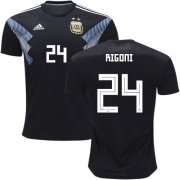 Wholesale Cheap Argentina #24 Rigoni Away Kid Soccer Country Jersey