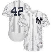 Wholesale Cheap New York Yankees #42 Mariano Rivera Majestic 2019 Hall of Fame Authentic Collection Flex Base Player Jersey White Navy