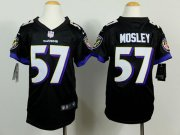 Wholesale Cheap Nike Ravens #57 C.J. Mosley Black Alternate Youth Stitched NFL New Elite Jersey