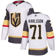 Wholesale Cheap Adidas Golden Knights #71 William Karlsson White Road Authentic Stitched Youth NHL Jersey