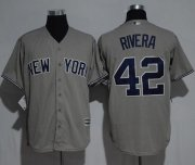 Wholesale Cheap Yankees #42 Mariano Rivera Grey New Cool Base Stitched MLB Jersey